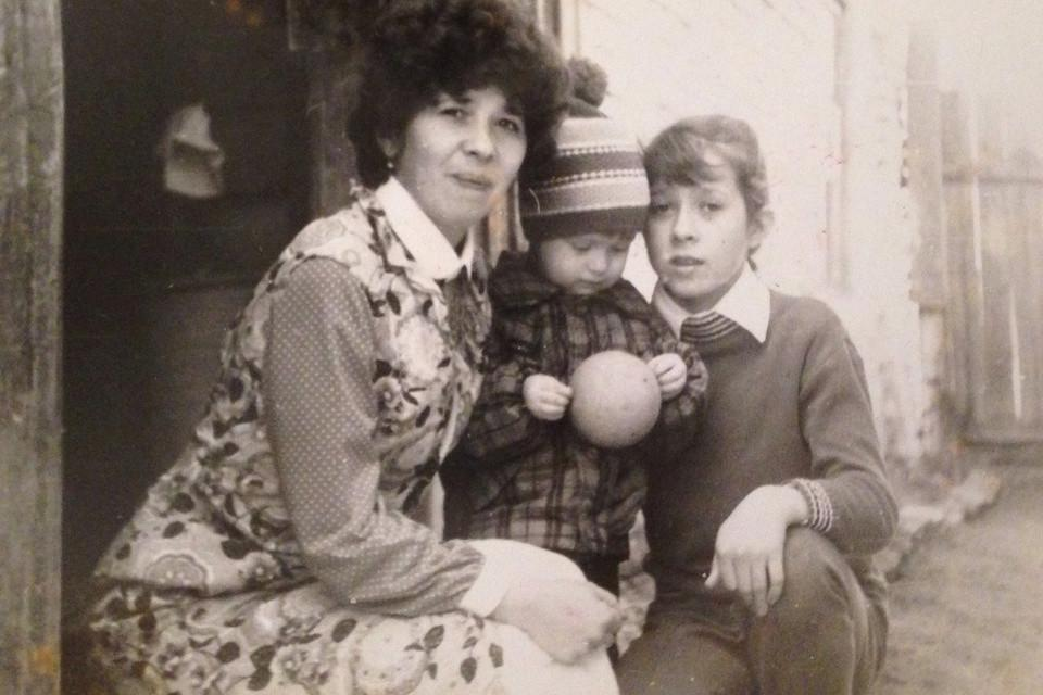 Altes Fotos mit 3 Menschen