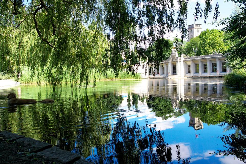 Haus an einem Teich