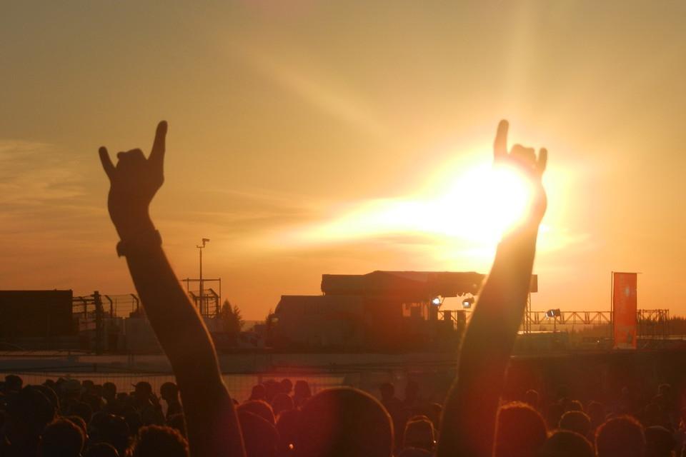 Sonnenuntergang bei Rock am Ring