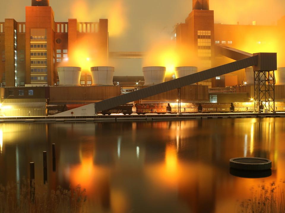 fabrik, Nacht, Beleuchtung
