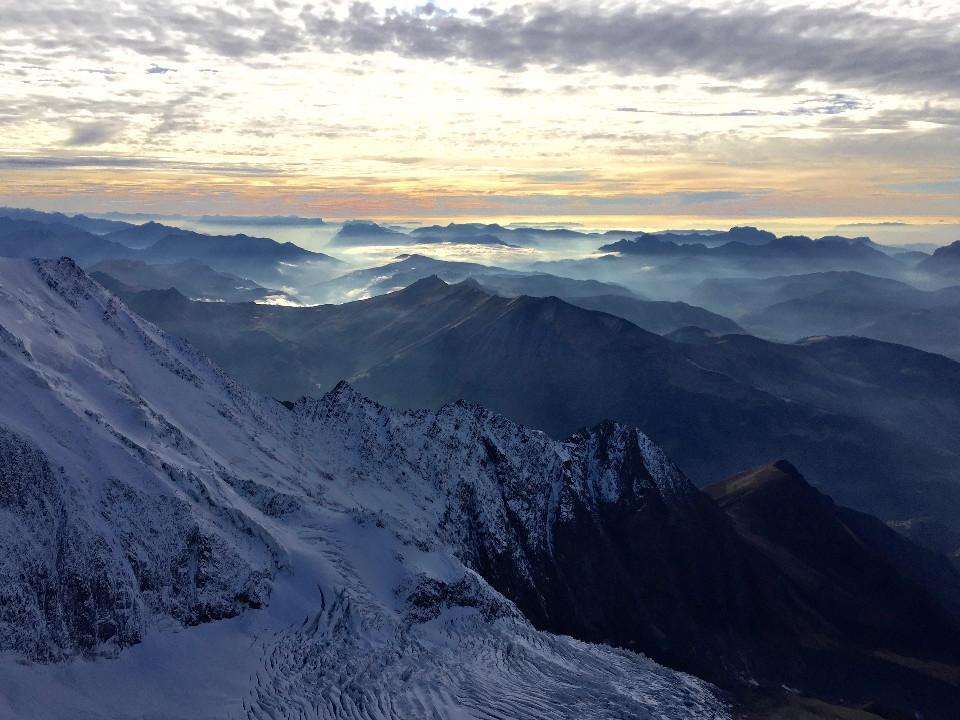 Berge, Mont Blanc, schön