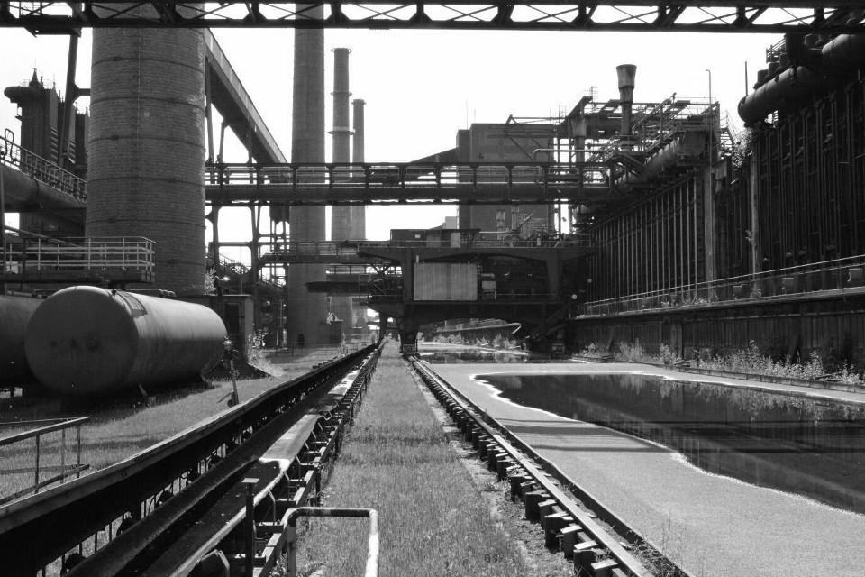 Eisenbahn, Station, industriell