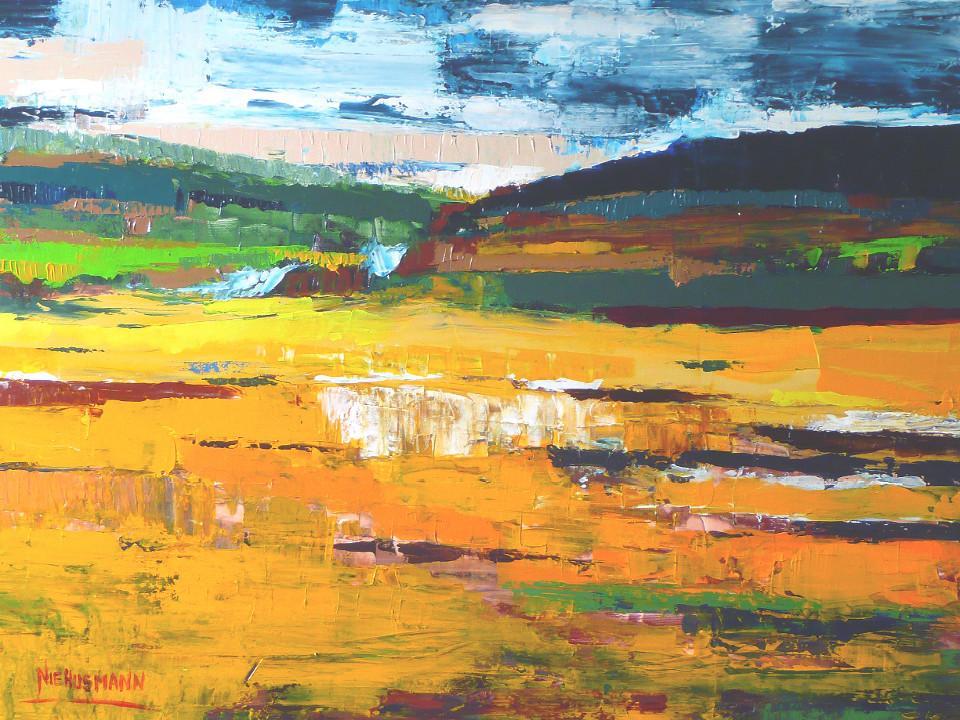 kunst, Malerei, Landschaft, abstrakt