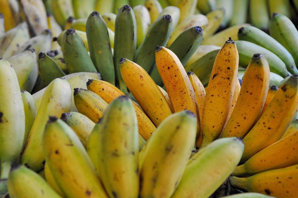 bananen, Früchte, Thailand, Markt