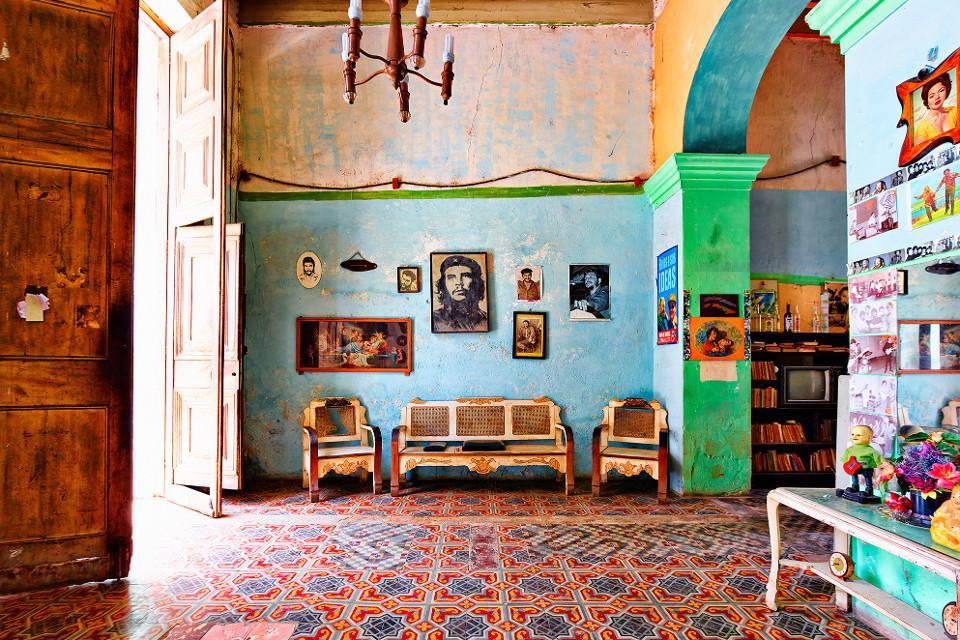 Leinwand, bunte Interieur, Che Guevara