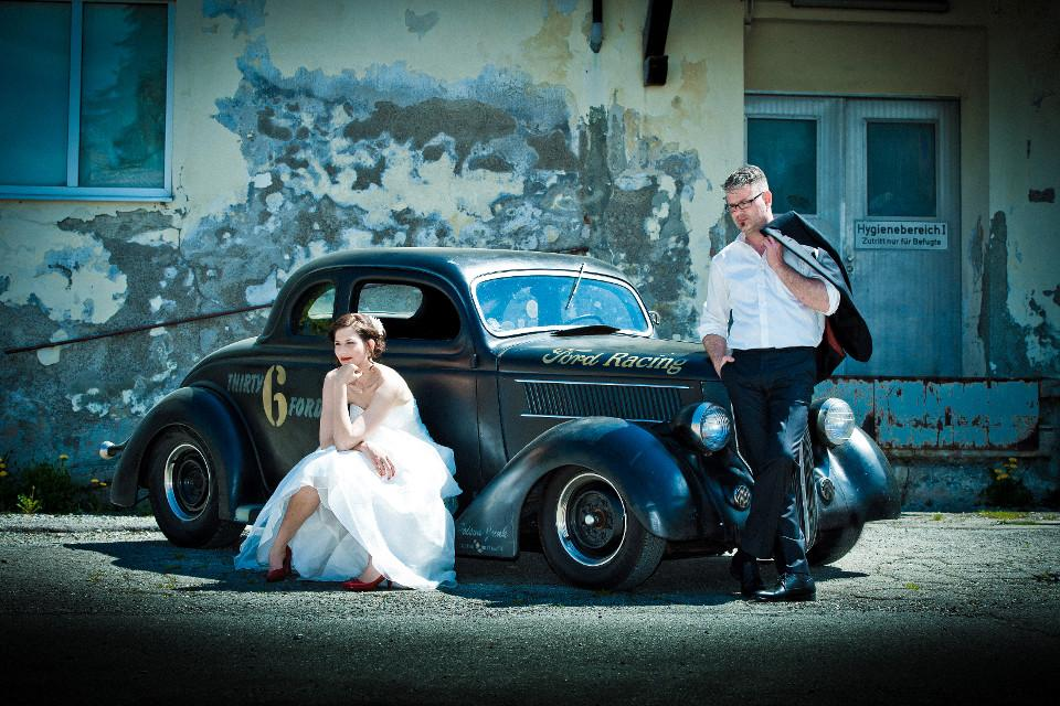 Hochzeit, Hochzeitsfoto, vintage, Braut, Bräutigam