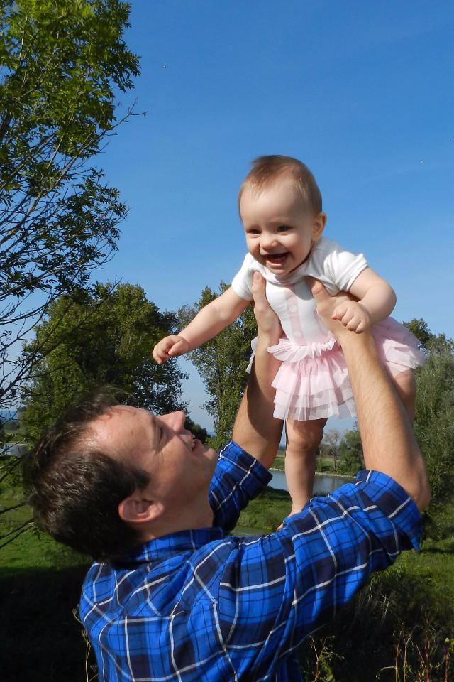Kinder, Babys, Töchterchen, Vater und Tochter