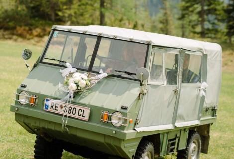 Interessante Hochzeitsauto