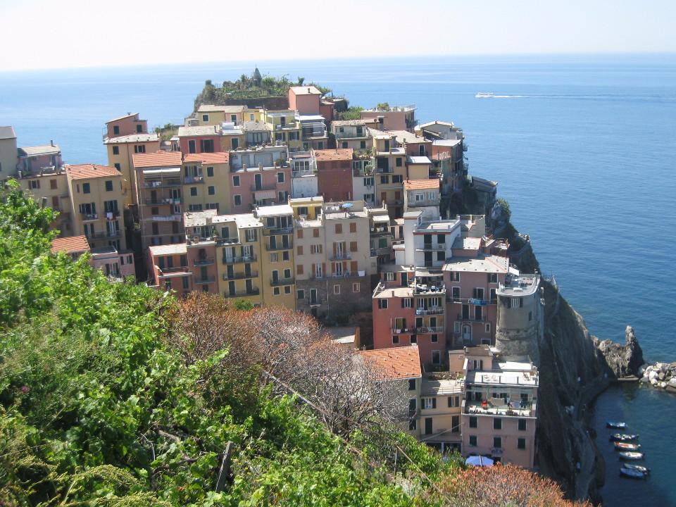Ferien, italienische riviera, Meer, alte Stadt, Paradies