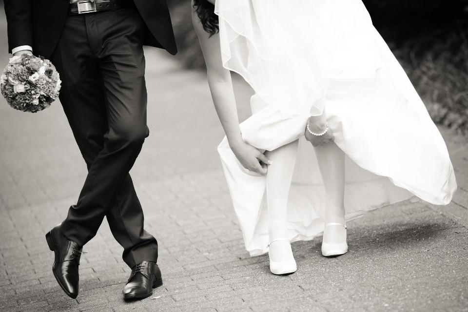 Hochzeit, Strumpf, Lustiges Hochzeitsfoto, Süßes Hochzeitsfoto