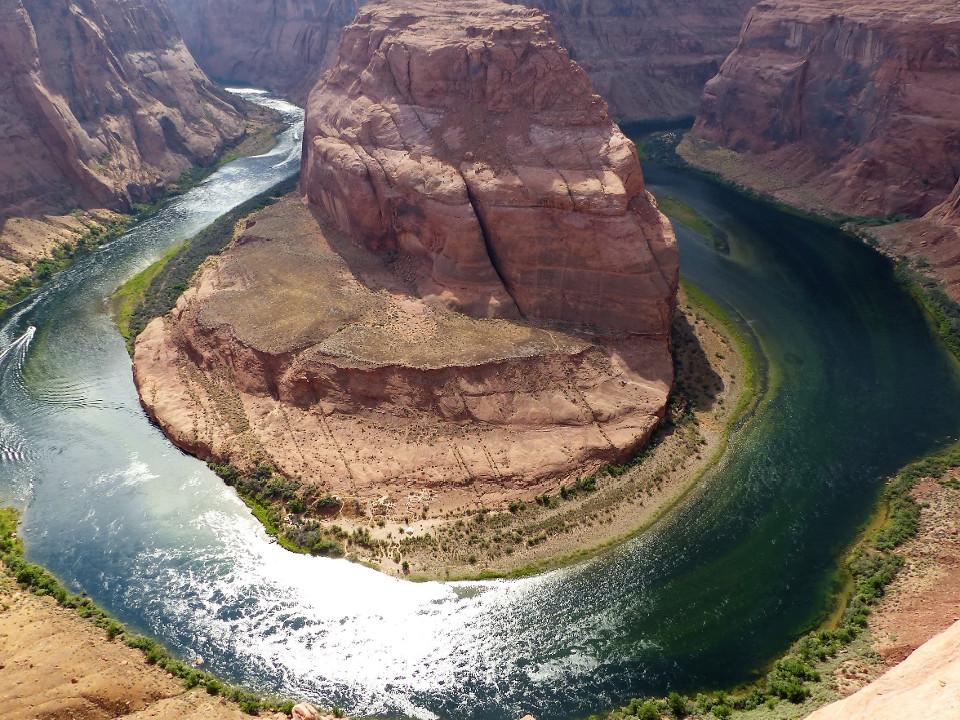Fluss, Kurve, Felsen, Schlucht