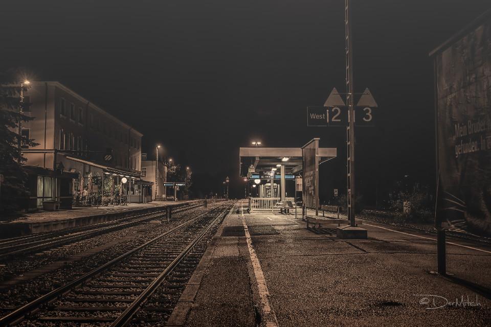 Banhof, nacht, nächtlich, Oberpfalz