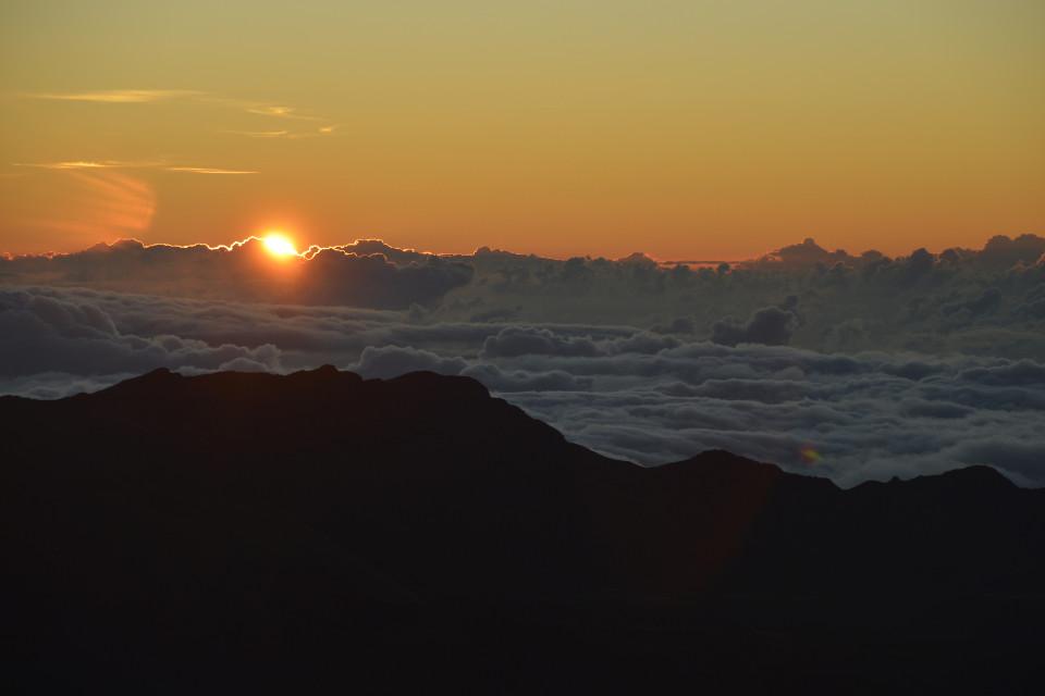 Sonnenuntergang, Himmel, schöne Landschaft