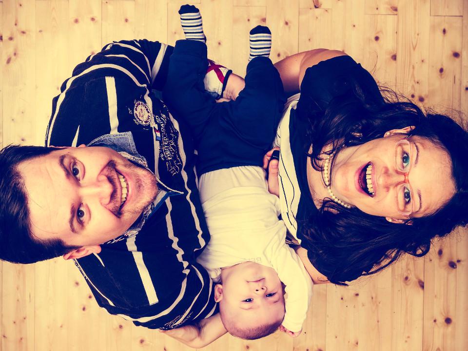 Familie, Glückliche Eltern, Baby