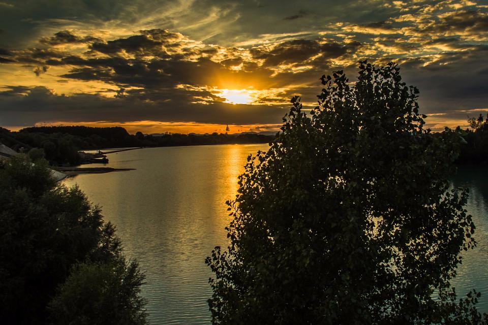 See, Landschaft, Sonnenuntergang