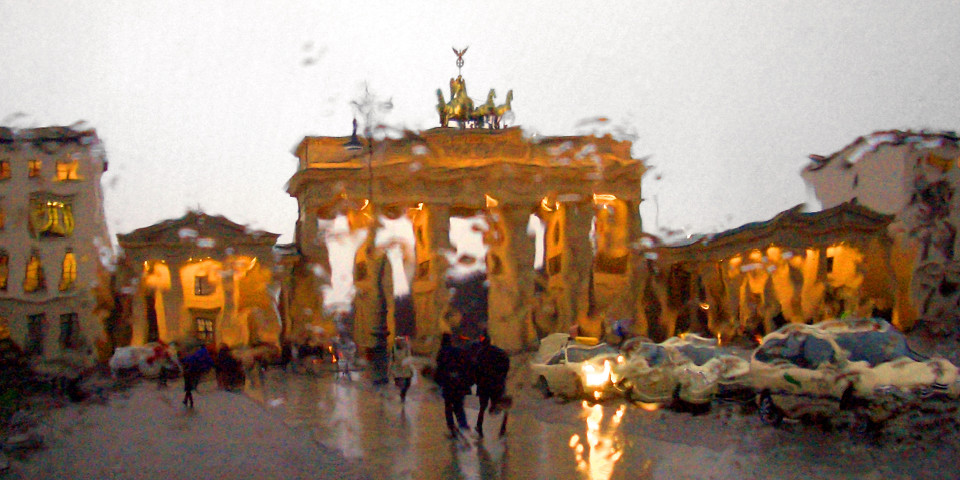 Berlin, Regen, Brandenburger Tor, schöne Stadt