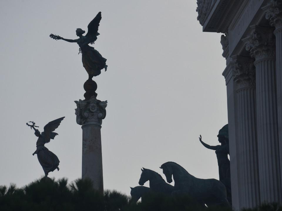 Rom, die Architektur, Statuen