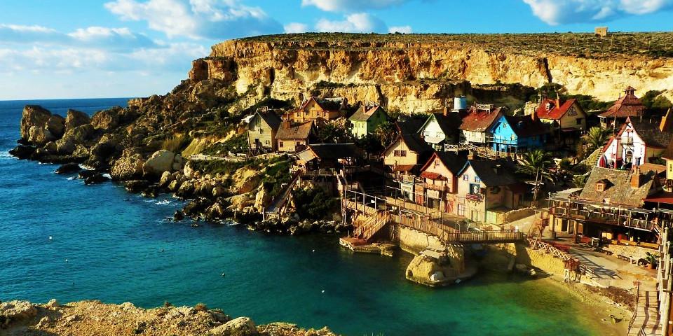 Insel, Malta, Küste, schönes Foto