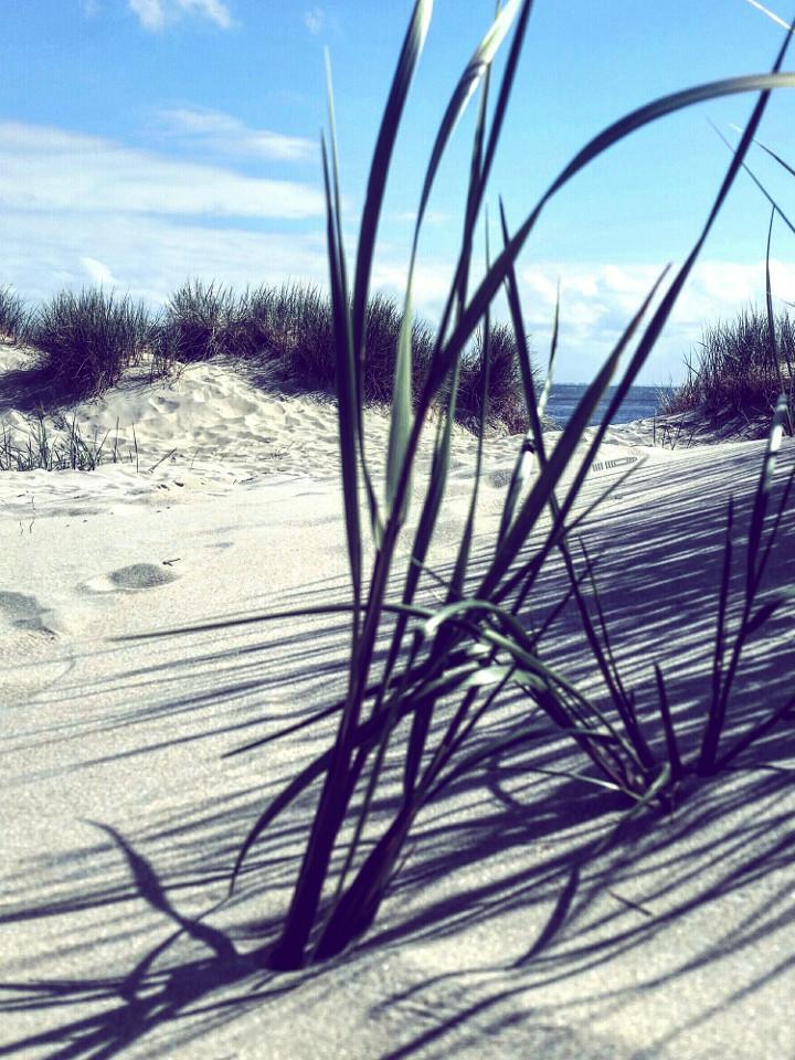 Strand, sand, Instagram-Filter, Blautöne