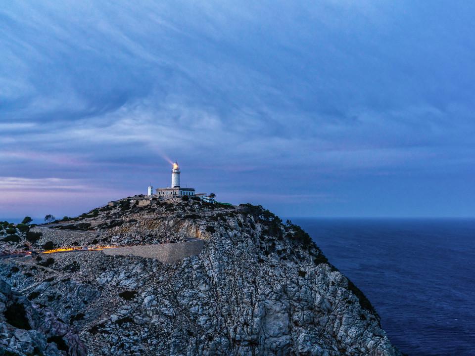 Felsen, Küste, Blaue Stunde, Fotografie, Leuchtturm