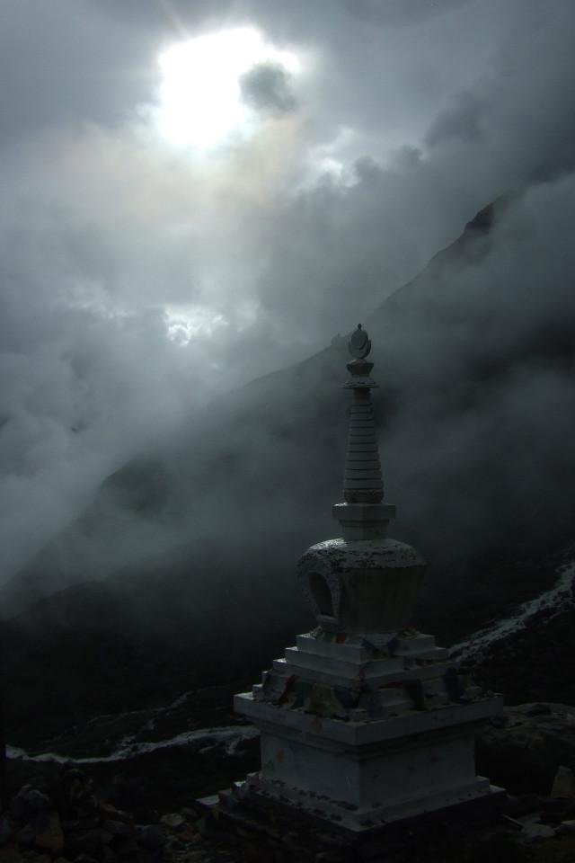 Landschaft, Nepal, Erdbeben, Totem, Einfarbig