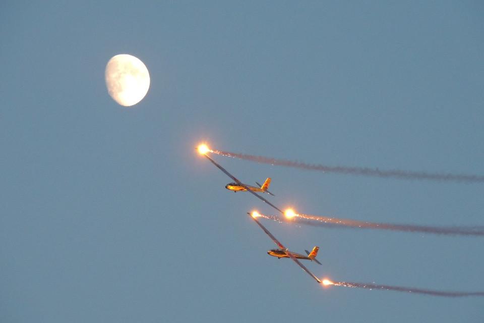 Himmel, Mond, Flugzeuge, Segelflugzeug