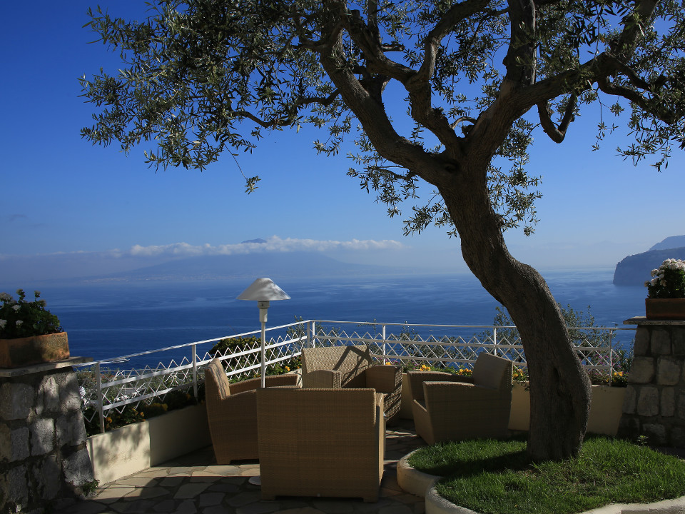 Italien, Vesuv, Landschaft, Balkon