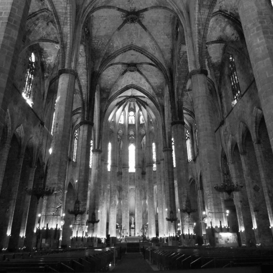 Kathedrale, Kirche, Monumental, monochrom