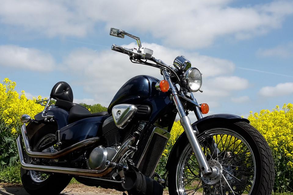 Fahrzeug, Motorrad, Klassisches Fahrrad, blauer Himmel