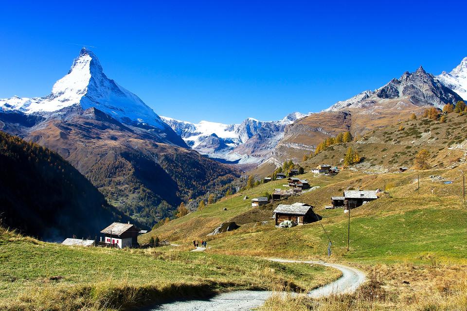 Landschaft, Szenerie, szenisch, Berge, Materhorn