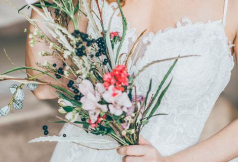 Zartes Hochzeitsfoto