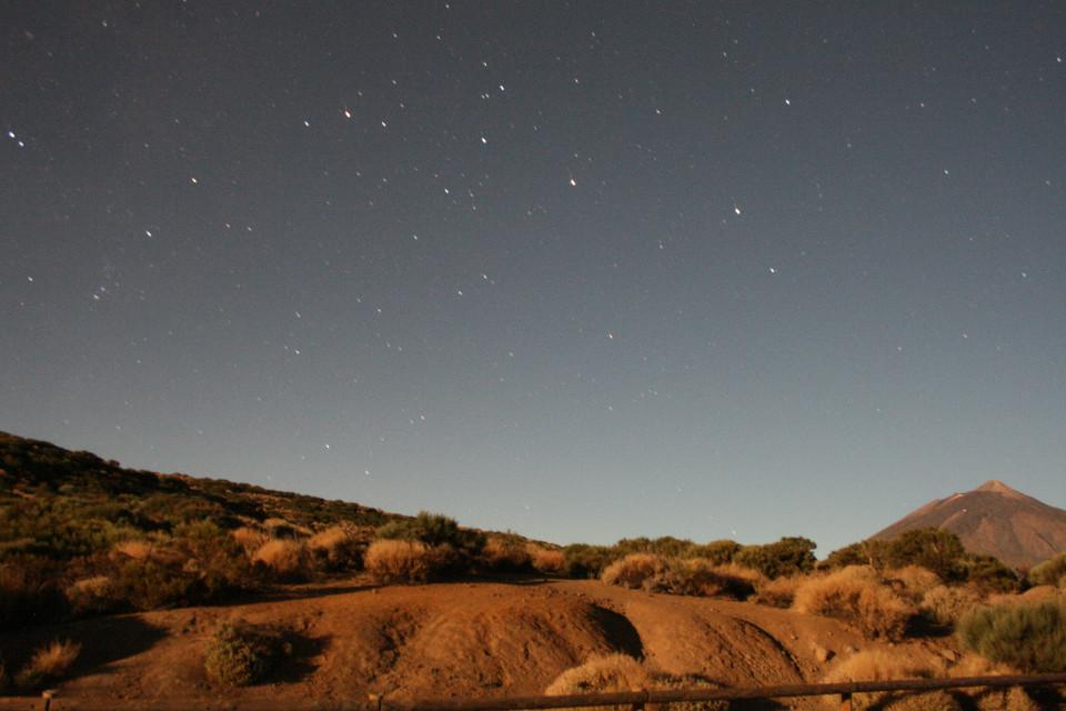 Teneriffa, Nacht, Sterne, Berge, Helle Nacht
