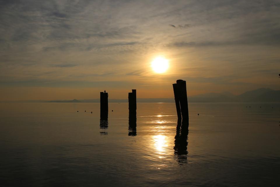 Meer, Sonnenuntergang, Seebrücke, romantisch, Betrachtung, Abend